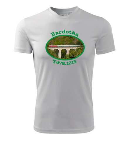 Tričko s lokomotivou Bardotka T478.1215 - Dárek pro příznivce železnice