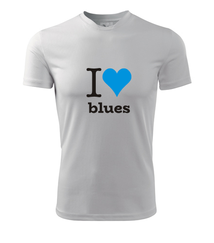 Tričko I love blues