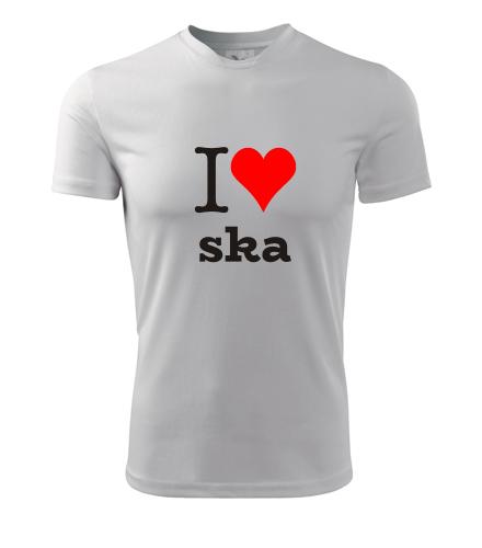 Tričko I love ska