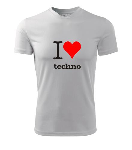 Tričko I love techno