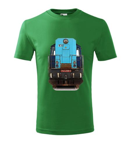 Dětské tričko s lokomotivou Kocour 742.209 - Dětská trička s mašinkou