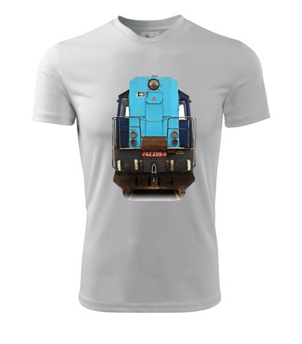 Tričko s lokomotivou Kocour 742.209 - Dárek pro příznivce železnice
