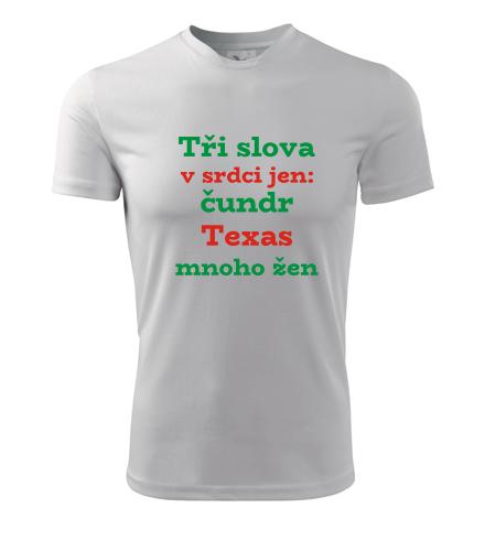 Tričko Tři slova v srdci jen - Dárek pro trampa